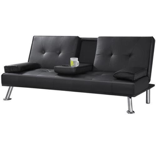 Seater Faux Leather Sofa Bed