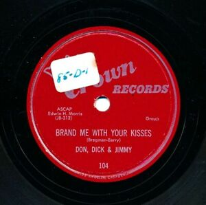 DON-DICK-amp-JIMMY-on-1954-Crown-104-Brand-Me-With-Your-Kisses-Angela-Mia