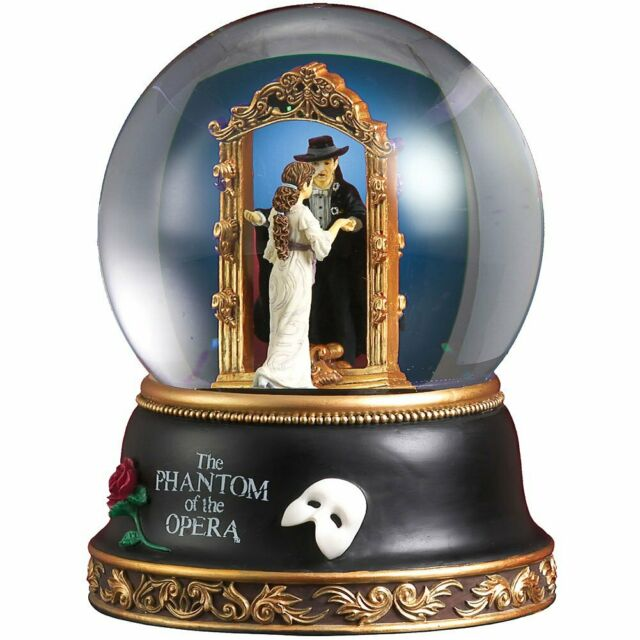 Phantom and Christine Mirror Scene Water Globe by The San Francisco Music Box