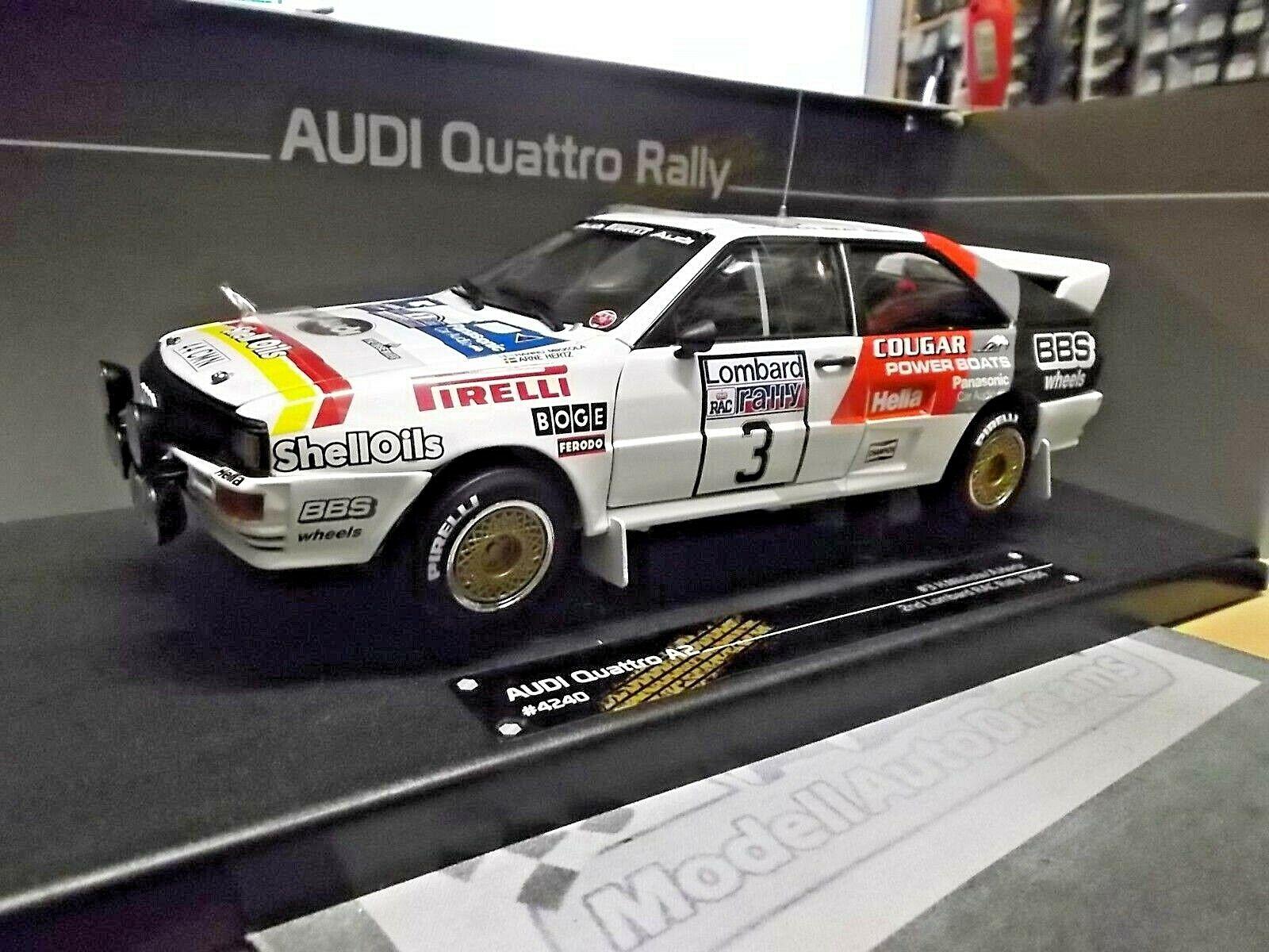 AUDI QUATTRO RALLYE GB RAC 1984 Sutton Mikkola  3 BBS pireli SUNSTAR SST 1 18