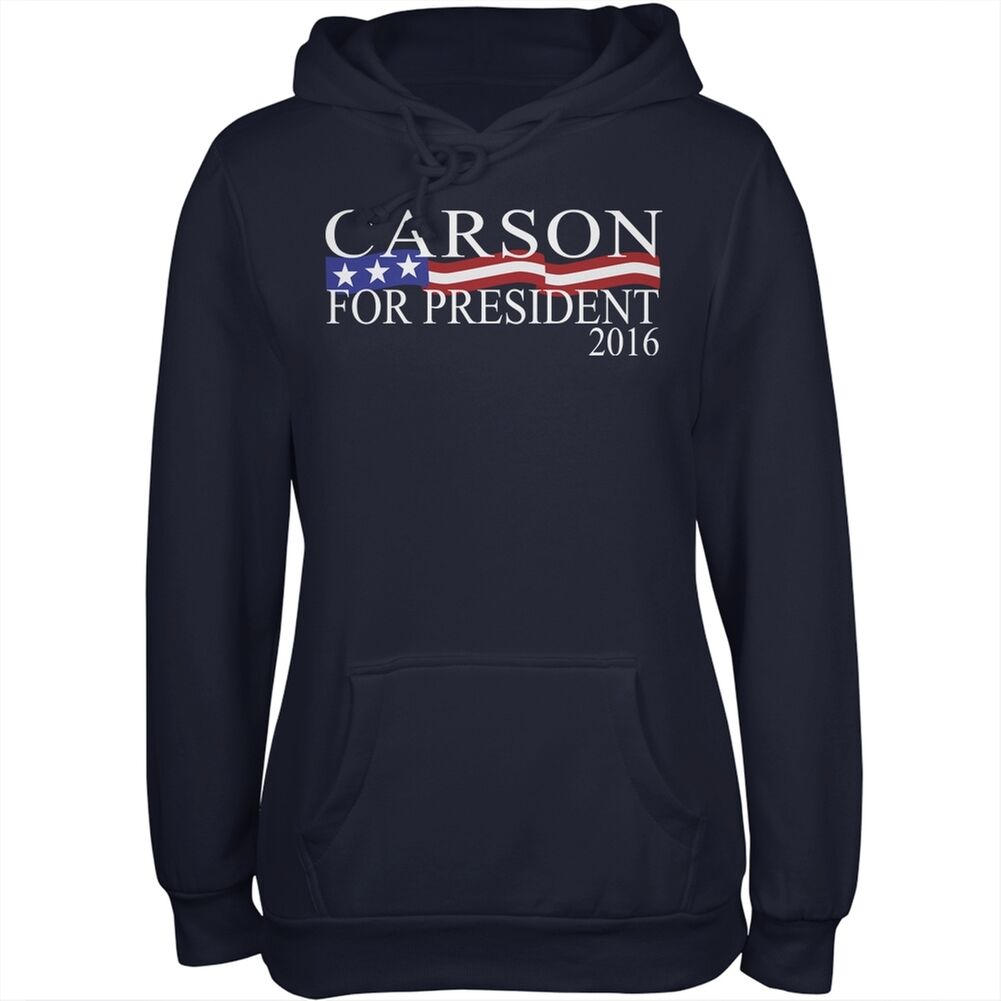 Election 2016 President Ben Carson Navy Juniors Soft Hoodie