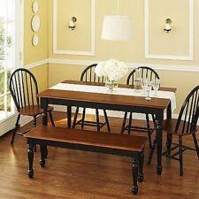 Peachy Metropolitan 6 Piece Dining Set With Bench Black For Sale Creativecarmelina Interior Chair Design Creativecarmelinacom