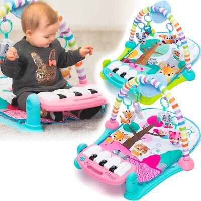 3in1 Spieldecke Spielmatte Baby Krabbeldecke Musikalische Spielbogen Decke DHL