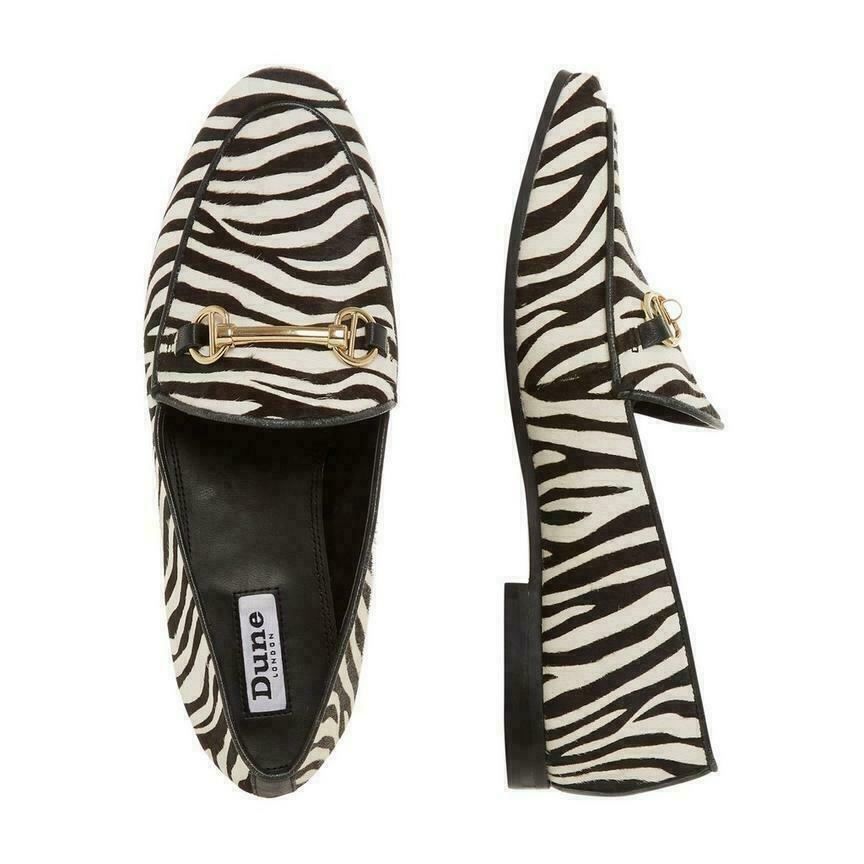 Dune Guiltt Zebra Pony Snaffle Rand Slipper Damen UK 5 Eu 38 Ref  M632 ^ R