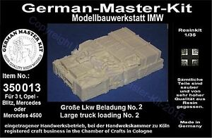 350013-Ladegut-1-35-Grosse-LKW-Beladung-No-2-Resin-WWII-GMK-World-War-II