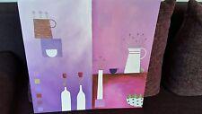 Bild Leinwand u.Keilrahmen 50x50 div .lila & pink Töne super Motiv auch f. Küche