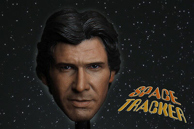 Custom 1/6 Scale Harrison Ford Han Solo Head Sculpt For Hot Toys Figure Body