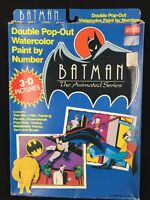 Vintage 1992 Batman The Animated Series Paint By Number Water Color Set Sealed