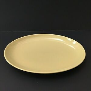 Russel-Wright-Iroquois-Serving-Platter-Casual-China-Avocado-Yellow-14-x-11-034-VTG