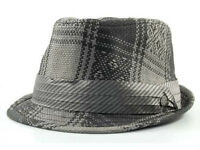 Private Label Pattern Straw Fedora With Satin Band Cap Hat $28
