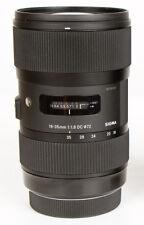 Sigma 210-306 18-35mm f/1.8 HSM DC Lens for Nikon