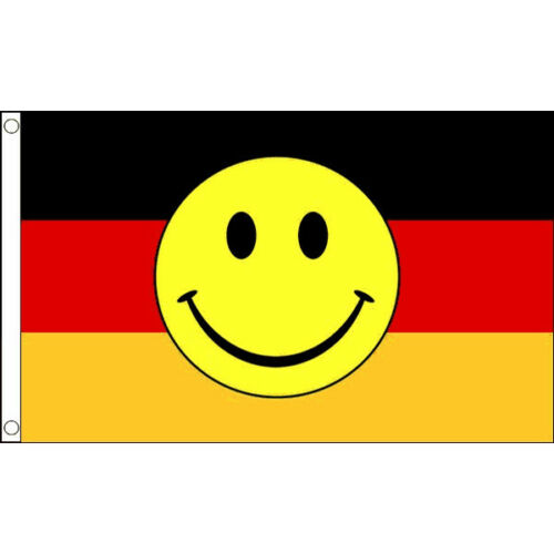 Germany Smiley Face Flag 5 x 3 FT 100/% Polyester With Eyelets Flag