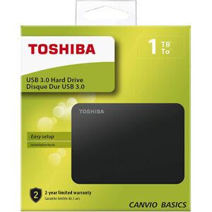 Hard disk esterno 1tb 2,5 Toshiba Usb 3.0 & 2.0 1000Gb Compatibile Apple Windows