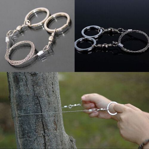 Emergency Survival Stainless Steel Wire Saw Camping Hunting  Climbing Gear ALUK
