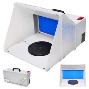Airbrush Paint Spray Booth Kit Odor Extractor Portable Hobby Gun Toy Model Parts