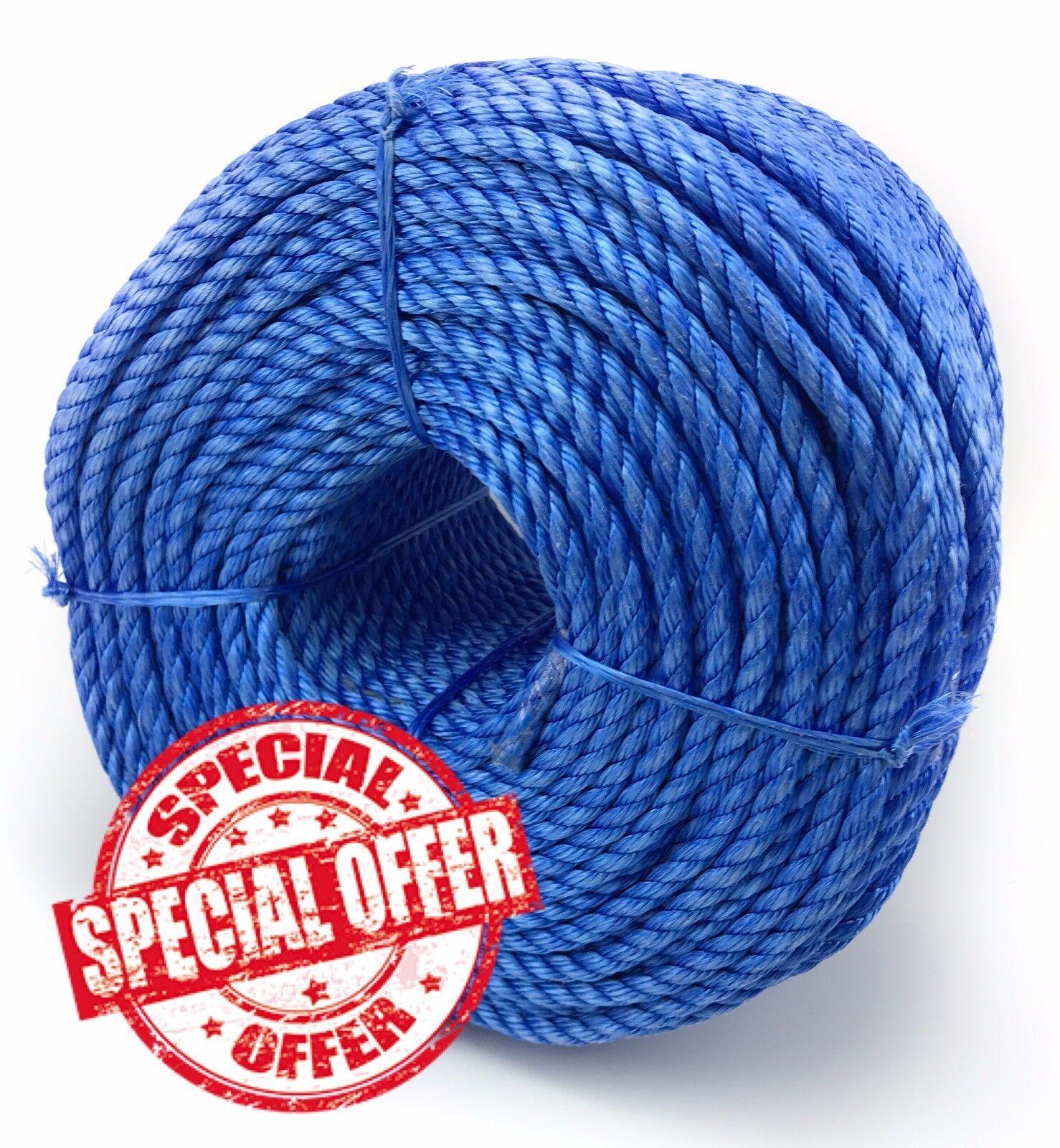 20mm azul polipropileno cuerda x 100 metros,polipropileno espirales,barato DE
