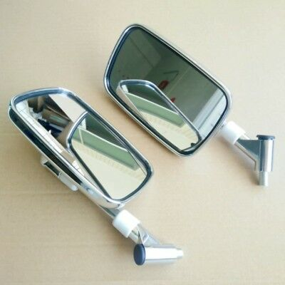 Custom Rear View Mirrors Chrome Pair w//Adapters For Suzuki Marauder VZ 800 1600