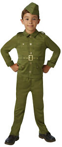 WW2-World-War-2-Boys-Kids-Army-Military-Soldier-Fancy-Dress-Costume-Outfit-5-10