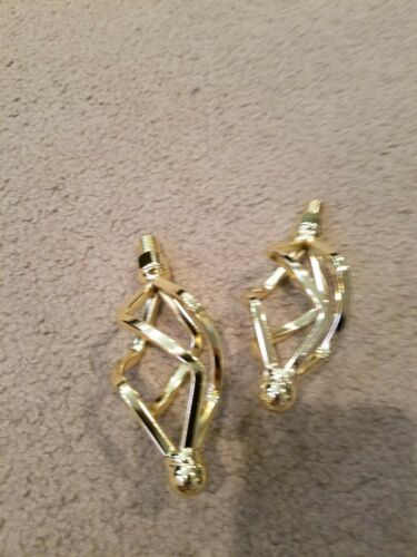 "NEW TWISTED GOLD BIRD CAGE BICYCLE PEDALS 1//2/"" LOWRIDER"