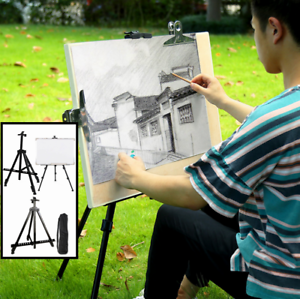 Metal-Telescoping-Tripod-Artist-Easel-Display-Stand-Tabletop-Floor-Painting