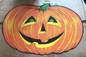 Beistle-Halloween-Pumpkin-25-inch-Die-Paper-Cutout-Decoration-1973-Copyright
