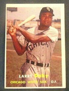 1957-topps-Larry-Doby-chicago-white-sox-85-baseball-card-nm-nm