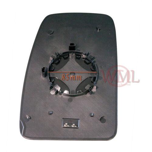 lado derecho NV400 2010 /> 2019 Puerta Espejo de cristal de plata calentado /& Base