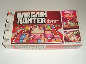 Vintage 1981 BARGAIN HUNTER Shopping Board Game 100%Complete Milton Bradley