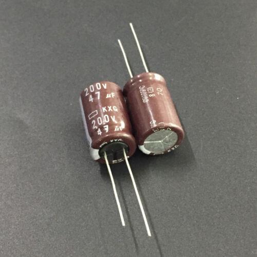 5pcs 200 V 47uF 200 V NCC Nippon KXG 12.5x20mm longue vie Condensateur