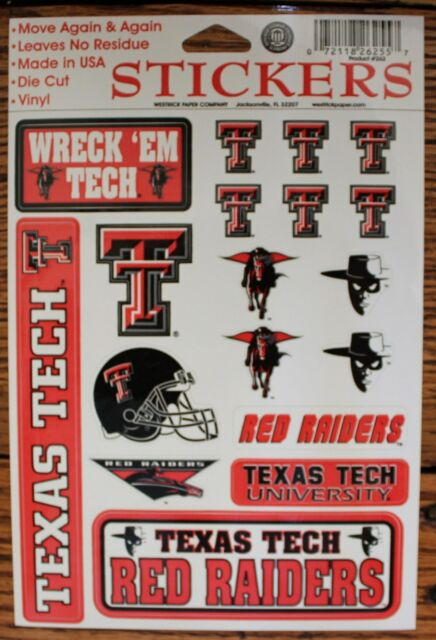 5 NCAA Team Texas Tech Red Raiders - Black Ink Official Licensed Click Pens