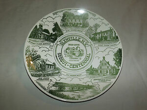 VINTAGE 1820-1970 GLENVILLE NY SESQUI-CENTENNIAL MOHAWK BRIDGE COLLECTOR PLATE