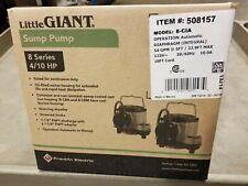 Little Giant 508157 8 Series Sump Pump 410hp