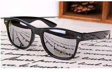 Wayfarer Sunglasses Vintage Mirror Lens Retro Black Frame Classic 80s Style silv