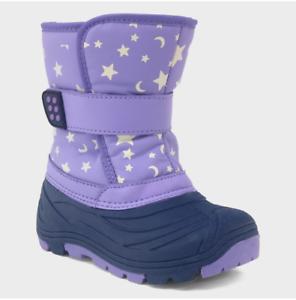 Purple *Cat /& Jack Toddler Girls/' Oona Glow In The Dark Star Print Winter Boots