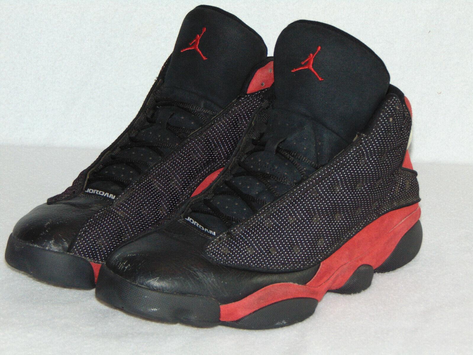GORGEOUS Nike Air Jordan XIII 13 Retro  BRED  BLACK RED WHITE 414571-010 Sz 13