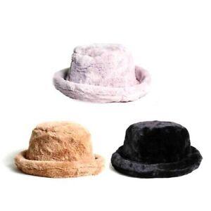 Women Fur Bucket Hat Boonie Bowler Hat Hunting Fishing Fisher ... bd9cbd0911a