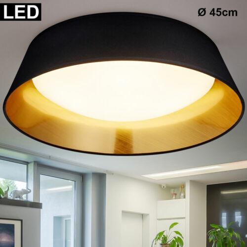 Design DEL Plafonnier Lampe de travail chambre Tissu éclairage Lampe Or Noir
