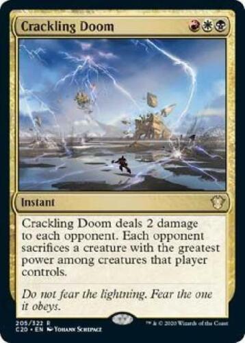 6x Crackling Doom 205//322 Near Mint MTG Commander 2020 C20