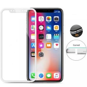 For-iPHONE-X-XS-TEMPERED-GLASS-SCREEN-PROTECTOR-FULL-COVER-5D-CURVED-9H-WHITE