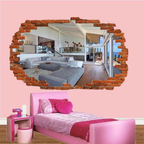 LUXURY HOUSE INTERIOR WALL STICKERS 3D ART MURAL DECAL OFFICE HOME DECOR TJ4