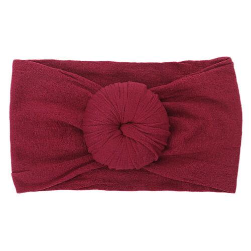 Baby Girls Kids Bow Knot Hairband Headband Stretch Turban Head Wrap Headwear