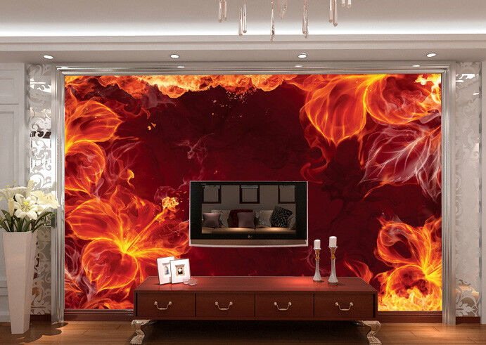 3D Flamme bluemenmuster 83 Tapete Wandgemälde Tapete Tapeten Bild Familie DE