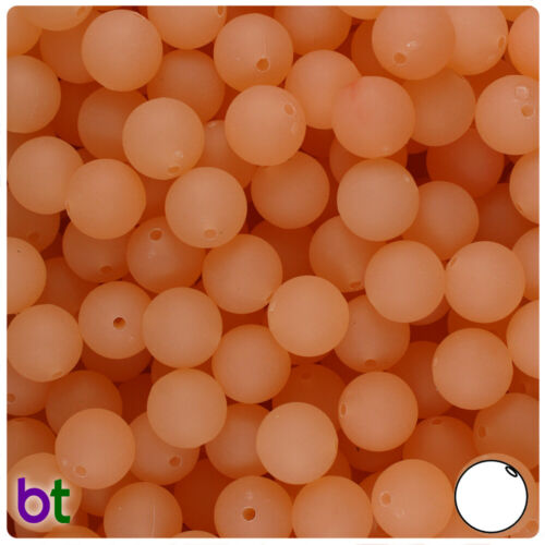 Color choice BeadTin Frosted 10mm Round Plastic Beads 150pcs