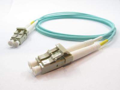 Lot of 10 3m LC-LC Duplex 50//125 Multimode 10 Gb Fiber Patch Cable Aqua om3-5782
