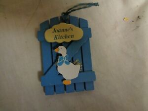 Joanne S Kitchen Blue Wood White Goose Russ Refrigerator Magnets Ebay