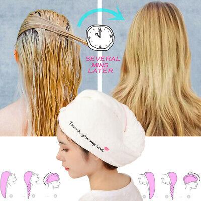 2pcs Cotton Dry Hair Cap Fast Drying Shower Towel Wrap Hat Bathroom Supply R1BO
