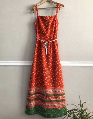 Vtg 60s/70s MALIA HONOLULU Hawaii Sun Dress Bright