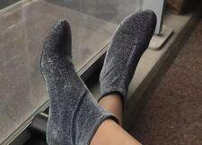 Zara Shiny Sock Boots Silver Heels Size UK 5 BNWT Rrp £49