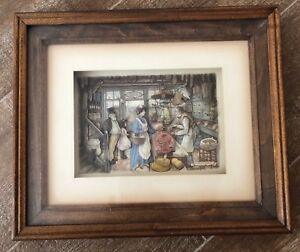 Anton-Pieck-3D-Framed-Victorian-Grocery-Store-Shadow-Box-picture-wall-art