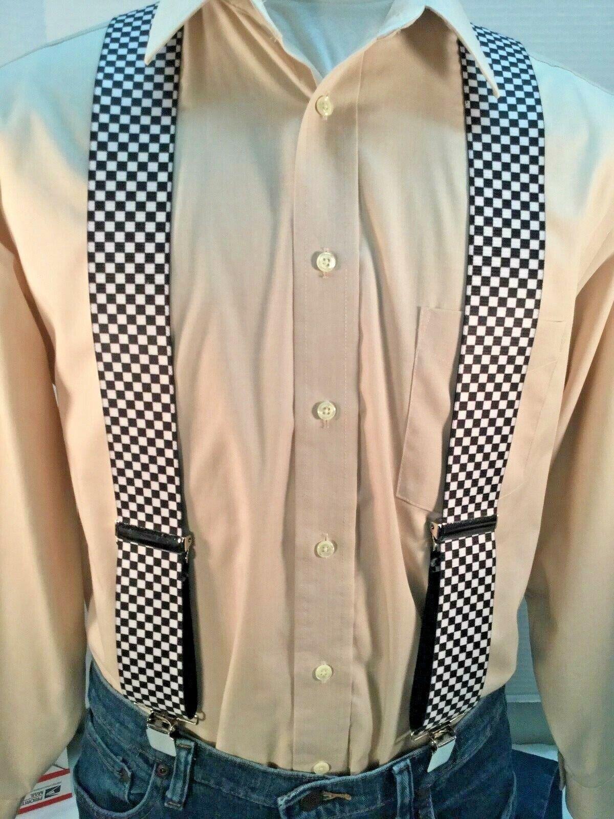 New, Men's, Black & White Checkerboard, XL, 2